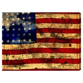 The Flag Canvas Print, Oliver Gal