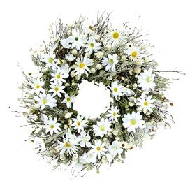 Faux White Daisy Wreath