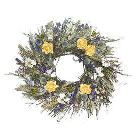Faux Dogwood & Rose Wreath