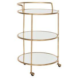Pamela Mirrored Bar Cart