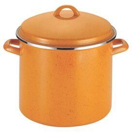Paula Deen Signature 12-Quart Stockpot in Orange Speckle