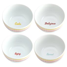 Cake Boss Icing Porcelain Bowl (Set of 4)