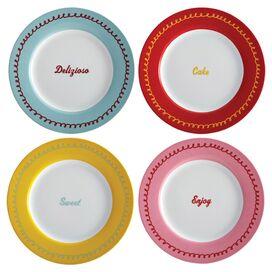 Icing Porcelain Dessert Plate (Set of 4)