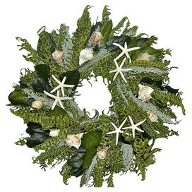 Preserved Green Seas Wreath