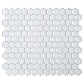 Arda Mosaic Tile in White (Set of 6)