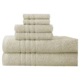 6-Piece Sienna Egyptian Cotton Towel Set in Ivory