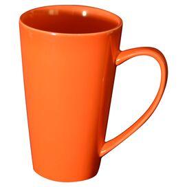 Hansen Porcelain Latte Mug in Orange