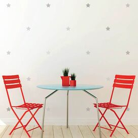 Classic Stars Wall Decal Set in Silver (Set of 66)