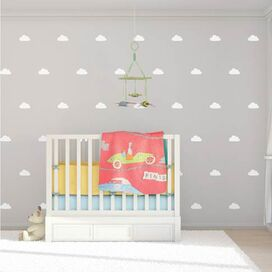 Cloud Wall Decal in Light Blue (Set of 42)