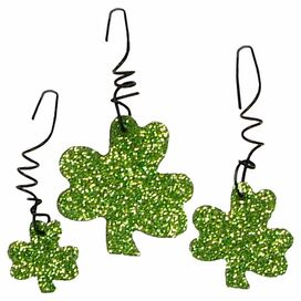 Shimmering Shamrock Ornament Set