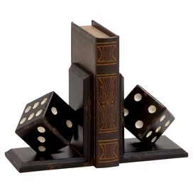 Rolling Dice Bookends