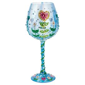 Blooming Heart Wine Glass