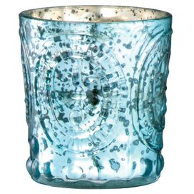 Marla Candleholder in Aqua