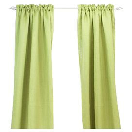 Penny Curtain Panel in Avocado