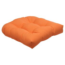 Bella Tufted Sunbrella Seat Cushion in Tangerine (Set of 2)