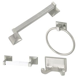 4-Piece Millbridge Bathroom Hardware Set in Satin Nickel