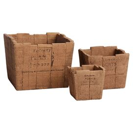 3-Piece Farmhouse Planter Set
