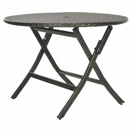 Meredith Rattan Folding Patio Dining Table
