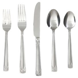 61-Piece Crossroads Stainless Steel Flatware Set