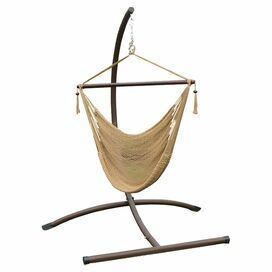 Brigham Hammock Chair & Stand in Tan