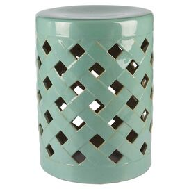 Finley Garden Stool in Green