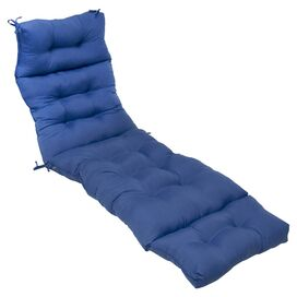 Kelly Indoor/Outdoor Chaise Cushion in Marine Blue