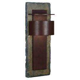 Quentin Outdoor Wall Lantern in Slate & Copper