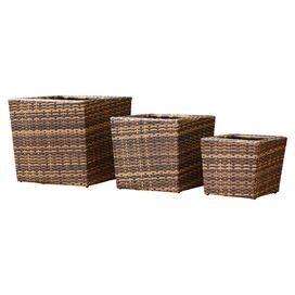 3-Piece Hampton Indoor/Outdoor Planter Set
