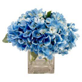 Faux Blue Hydrangea