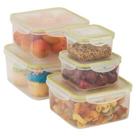 5-Piece Snap-Lid Storage Container Set I