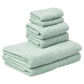 6-Piece Natasha Egyptian Cotton Towel Set in Surf
