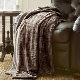 Leanne Throw in Deep Taupe