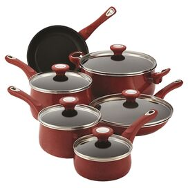 Farberware 14-Piece New Traditions Cookware Set in Red