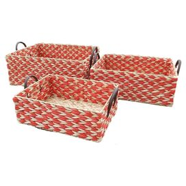 3-Piece Rush Basket Set