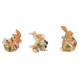 3-Piece Tumbling Rabbit Decor
