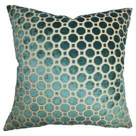 Kostya Velvet Pillow in Turquoise