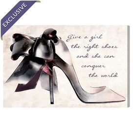 Give A Girl Canvas Print, Oliver Gal