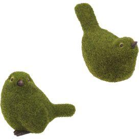 2-Piece Faux Bird Topiary Set