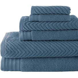 6-Piece Tristan Towel Set in Denim