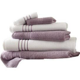 6-Piece Siara Egyptian Cotton Towel Set in Orchid
