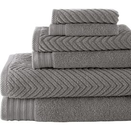 6-Piece Tristan Towel Set in Platinum