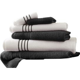 6-Piece Egyptian Cotton Towel Set in Black