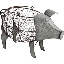 Pig Basket Decor