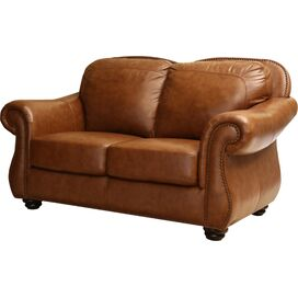 "Bryce 64"" Leather Loveseat"