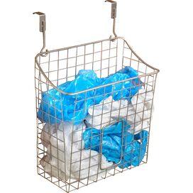 Over-Door Wastebasket in Satin Nickel