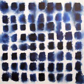 Indigo Blocks Art Print, Artfully Walls