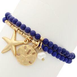 Starfish & Sand Dollar Bracelet