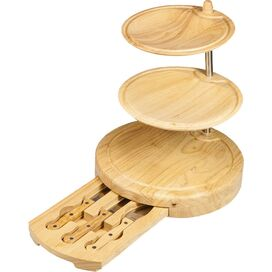4-Piece Harrison Bamboo Serving Board & Knife Set