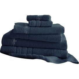 6-Piece Egyptian Cotton Towel Set in Denim