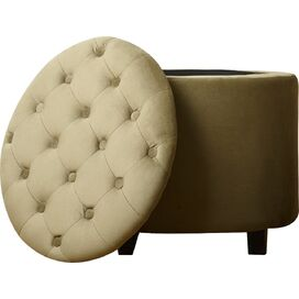 Avery Tufted Velvet Storage Ottoman